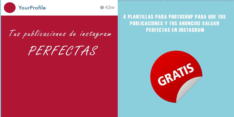Plantilla PSD para que tu publicidad en Instagram sea perfecta ...