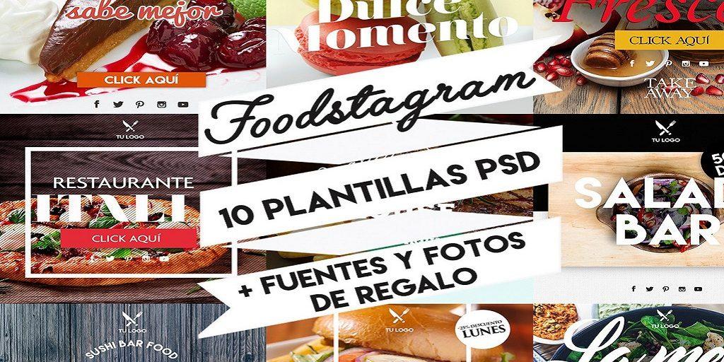 FOODSTAGRAM - 10 plantillas instagram para restaurantes - Alex Fonseca