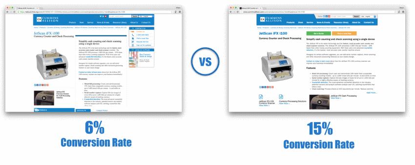 ventas online con conversion espacios en blanco