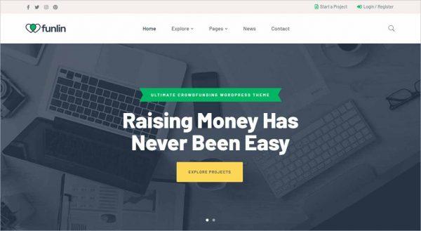 Funlin Crowdfunding Charity Theme