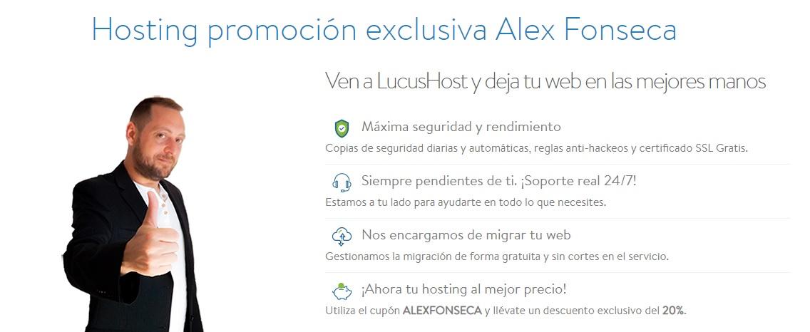 promo Alex Fonseca LucusHost
